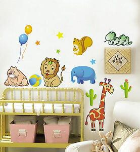 Kids リムーバル ウォールデコ ウォールステッカー インテリア 壁 シール Art Home DIY デカール Mural ルームステッカー Paper Animal