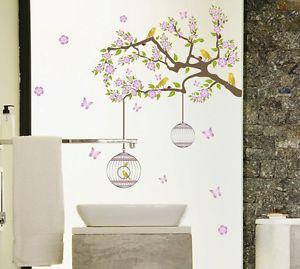 リムーバル ウォールデコ ウォールステッカー インテリア 壁 シール ホームデコレーション デカール Mural Room Paper Art フラワー お花 木 鳥
