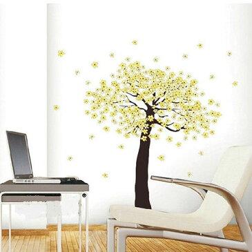 New リムーバル ウォールデコ ウォールステッカー インテリア 壁 シール Art デカール Mural Room Paper ホームデコレーション Yellow 木
