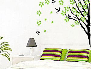Bird DIY 木 Art ウォールデコ ウォールステッカー インテリア 壁 シール Decor ルームステッカー ビニール リムーバル Paper Mural