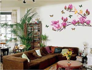 ウォールデコ ウォールステッカー インテリア 壁 シール デコレーション フラワー お花 Butterfly Stickers ビニール リムーバル Home Paper Mural