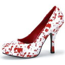 Blood Splatter Pumps ゾンビ 幽霊 お化け Nurse Bloody Women's シューズ 靴 クリスマス ハロウィン コスチューム コスプレ 衣装 変装 仮装 1