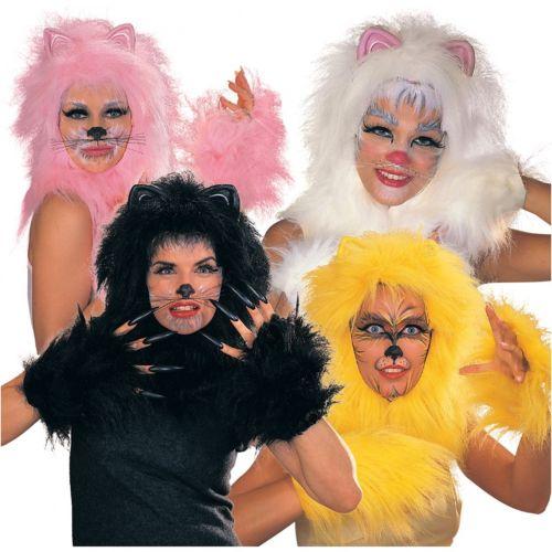 Cats Kit アクセサリー Set 大人用 レディス 女性用 ブラック, Gold, Pink or ホワイト クリスマス ハロウィン コスチューム コスプレ 衣装 変装 仮装画像