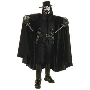 Super Dlx V for Vendetta 大人用 男性用 メンズ Grand Heritage Collection Guy Fawkes クリスマス ハロウィン コスチューム コスプレ 衣装 変装 仮装