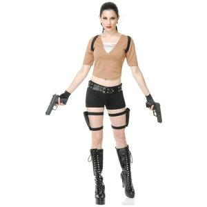 Tomb Raider 大人用 Lara Croft セクシー クリスマス ハロウィン コスチューム コスプレ 衣装 変装 仮装