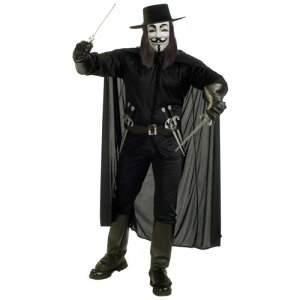 V for Vendetta 大人用 男性用 メンズ スーパーヒーロー Guy Fawkes クリスマス ハロウィン コスチューム コスプレ 衣装 変装 仮装