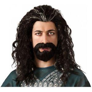 Thorin Oakenshield Wig & クマ 熊d Set The Hobbit ホビット 大人用 Hair Kit クリスマス ハロウィン コスチューム コスプレ 衣装 変装 仮装画像