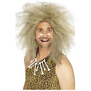 Caveman ウィッグ 大人用 男性用 メンズ おもしろい Cave Man アクセサリー ハロウィン コスチューム コスプレ 衣装 変装 仮装