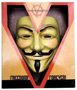 V for Vendetta Mask Collector Edition Guy Fawkes アクセサリー クリスマス ハロウィン コスチューム コスプレ 衣装 変装 仮装