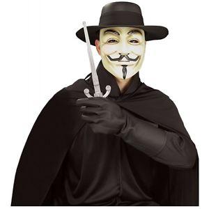 V For Vendetta Gloves 大人用 男性用 メンズ Guy Fawkes ブラック アクセサリー クリスマス ハロウィン コスチューム コスプレ 衣装 変装 仮装