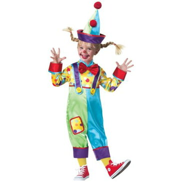 クラウン ピエロ 道化師Toddler キッズ 子供用 おもしろい ハロウィン コスチューム コスプレ 衣装 変装 仮装