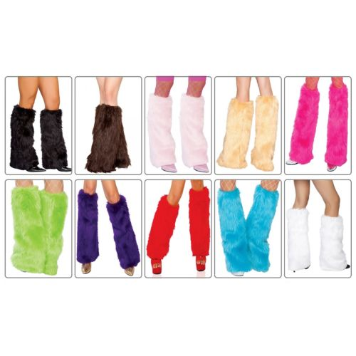 Furry Leg Warmers アクセサリー 大人用 レディス 女性用 Fluffies Fur Boot Cuff Toppers ハロウィン コスチューム コスプレ 衣装 変装 仮装