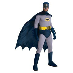 Batman Costume Adult Classic Superhero 1966 Adam West Halloween Fancy Dressbatman バット...