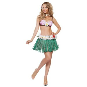 Hula ガール 大人用 Hawaiian Outfit with Grass スカート Luau パーティ クリスマス ハロウィン コスチューム コスプレ 衣装 変装 仮装