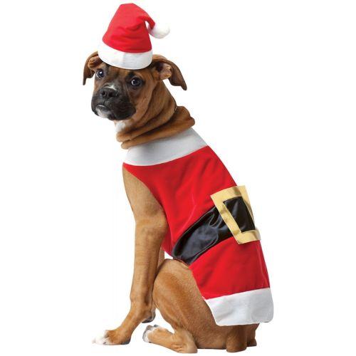 Dog クリスマス Pet サンタクロース 女神 おもしろい クリスマス ハロウィン コスチューム コスプレ 衣装 変装 仮装画像