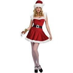 Sexy Jingle Adult Miss Ms Mrs Claus Santa Baby Christmas Costumeセクシー Jingle 大人用 Mi...
