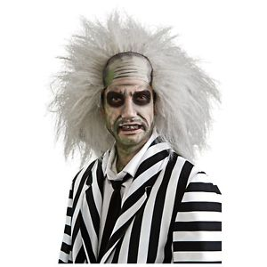 BeetlejuiceWig 大人用 男性用 メンズ ホワイト おもしろい ゴースト 幽霊 お化け ゾンビ Mad Scientist ハロウィン コスチューム コスプレ 衣装 変装 仮装