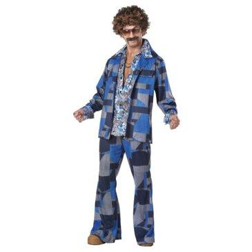 ディスコ パーティ クラブ 大人用 男性用 メンズ おもしろい 70s Liesure スーツ ハロウィン コスチューム コスプレ 衣装 変装 仮装