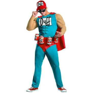 Duffman クラシック Muscle The Simpsons シンプソンズ 大人用 男性用 メンズ おもしろい スーパーヒーロー ハロウィン コスチューム コスプレ 衣装 変装 仮装