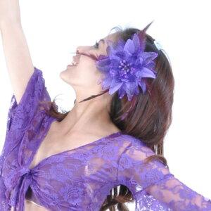 ベリーダンス 衣装 Brooches headドレス flower 11 カラー コスチューム ダンス 衣装 発表会
