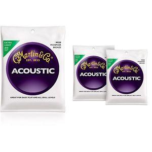 ギター, アコースティックギター  Martin M530 Phosphor Bronze Extra Light Strings - 3 Pack