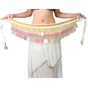 ベリーダンス 衣装 ステージ衣装 民族衣装 ダンス【ヒップコインスカーフ】ベリーダンス ステージ衣装