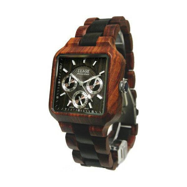 TENSE(テンス)『スクエアモデル 木製腕時計』