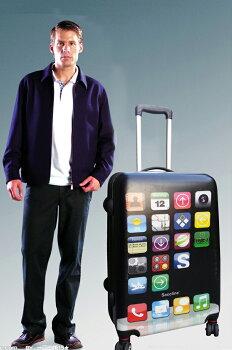 【iPhone型軽量スーツケース/Sサイズ】iPhone型スーツケース軽量キャリーケースキャリーバッグ旅行海外旅行国内旅行旅行用品旅行かばんスマホスマートフォン60cmTSAロック付き