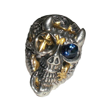 Bill Wall Leather/ビルウォールレザー/シルバーリング/指輪BILL WALL 1212 MASTER SKULL RING 30TH ANNIV. REAL TANZANITE STONE NOMAD 18K