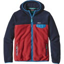 Patagonia Lightweight Synchilla Snap-T Hooded Fleece Jacket - Men's Raspen Red メンズ 男性用 アウトドア フリース ジャケット コート アウター Fleece Jackets