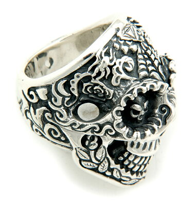 "ビルウォールレザー/BWL/Bill Wall Leather/R407-""DIA DE LOS MUERTOS"" Master Skull Ring/Bill..."
