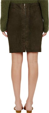 The Row Suede Noleean Mini Skirt