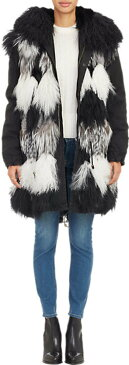 Mr. and Mrs. Italy Patchwork Fur Parka