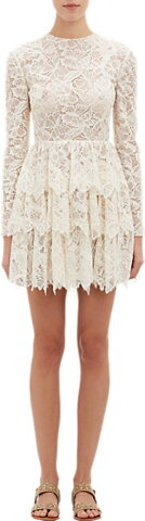 Valentino Butterfly Lace Tiered Dress