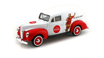 Motor City Classics 1940 Ford Sedan Delivery Santa Claus 1 24 Coca Cola White おもちゃ 模型 ラジコン フィギュア