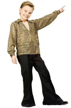 ディスコ Disco サタデーナイトフィーバー Fever 子供用コスチューム (Gold) コスチューム ハロウィン コスプレ 衣装 仮装 男の子 女の子 子供 小学生 かわいい 面白い 1970年代 昭和 学園祭 文化祭 学祭 大学祭 高校 イベント