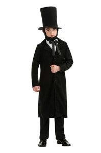 Abraham Lincoln デラックス 子供用コスチューム ハロウィン コスプレ 衣装 仮装 男の子 女の子 子供 小学生 かわいい 面白い 学園祭 文化祭 学祭 大学祭 高校 イベント
