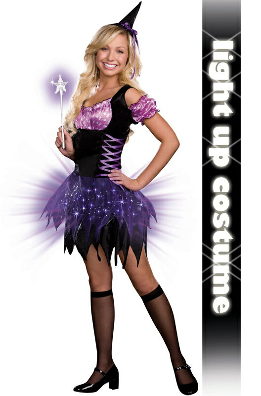 ハロウィン パーティ コスプレ S魔女 Witch 魔女 Witch ティーンサイズ 衣装 大人用 面白い 学園祭 文化祭 大学祭 コスチューム 変装 仮装:Mars shop