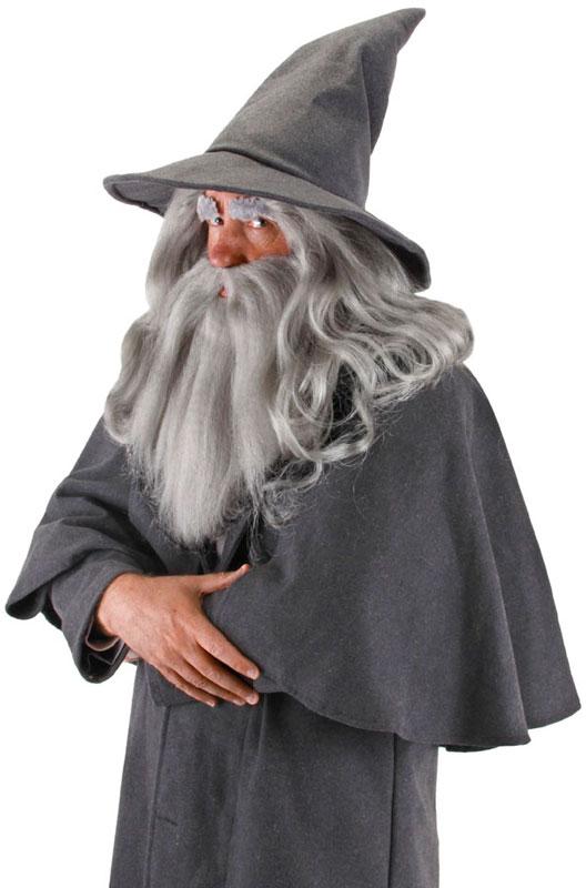 映画 ホビット The Hobbit(ロードオブザリング) Gandalf Beard and ウィッグ Set コスチューム ハロウィン コスプレ 衣装 仮装 面白い ウィッグ かつら マスク 仮面 学園祭 文化祭 学祭 大学祭 高校 イベント画像