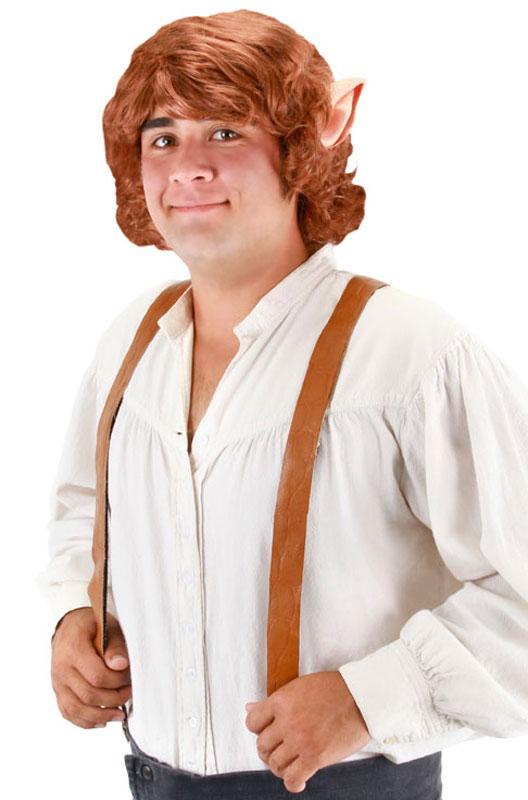 映画 ホビット The Hobbit(ロードオブザリング) Bilbo Baggins ウィッグ with Ears コスチューム ハロウィン コスプレ 衣装 仮装 面白い ウィッグ かつら マスク 仮面 学園祭 文化祭 学祭 大学祭 高校 イベント画像