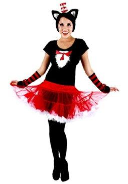 コスプレ ハロウィン CAT IN THE HATチュチュ 大人用 女性用 衣装 ドレス ワンピース 衣装 学園祭 文化祭 コスチューム 仮装 変装