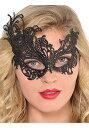 ブラック Lace マスク for Women | ハロウィン コスプレ 衣装 仮装 小道具 おもしろい イベント パーティ ハロウィーン 発表会 デコレーション リボン アクセサリー メンズ レディース 子供 おしゃれ かわいい