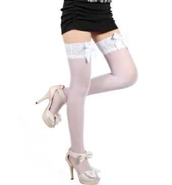 即納 リボンがカワイイ♪ ニーハイソックス コスプレにピッタリ ニーハイ ハイソックス 衣装 コスチューム レディース レディス ソックス 靴下 白雪姫 赤ずきんちゃん ハロウィン
