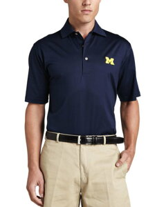 Michigan Gameday College Shirt Polo, Blue