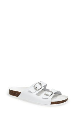 Topshop 'Heights' Leather Sandalトップショップ/Topshop 'Heights' Leather Sandal WHITE/女...