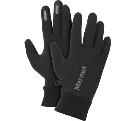マーモット Marmot Power Stretch Glove 18400 - Black 手袋 グローブ
