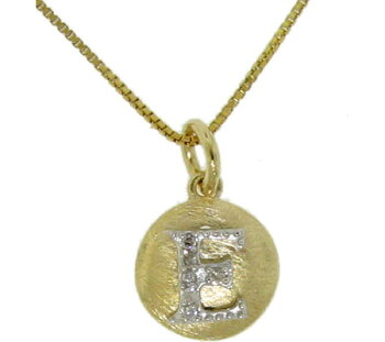 MoiseInitialEPendantNecklace206103-14KGold-Plated/スカーフ