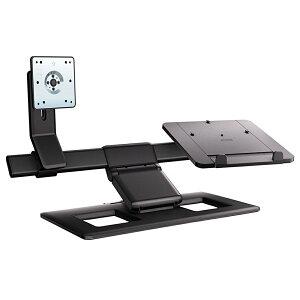 【HPヒューレット・パッカード】DisplayandNotebookStandAW662AA-UUFちょっと変わったモニターアームディスプレイアーム+ノートPCスタンド2画面出力やタブレット設置も!