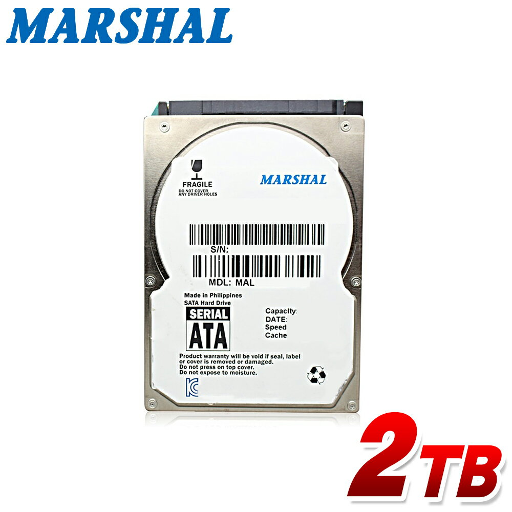 MARSHAL 内蔵hdd 2.5インチ 2TB SATA 5400rpm 15mm MAL22000SA-T54H2内蔵 ハードディスク 新品バルク品画像
