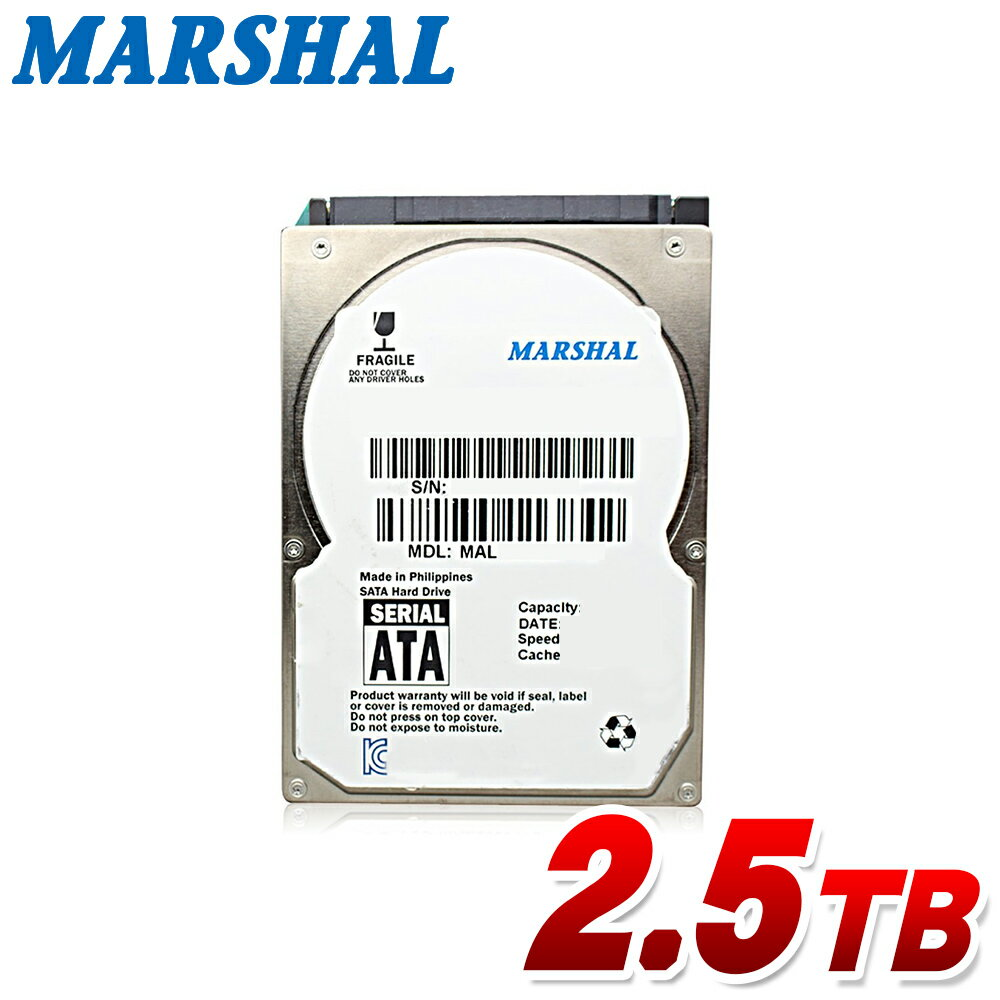 MARSHAL 内蔵hdd 2.5インチ 2.5TB SATA 5400rpm 15mm MAL22500SA-T54H2内蔵 ハードディスク 新品バルク品画像